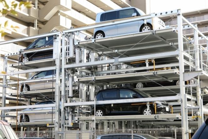 二階建て自走式駐車場の改修